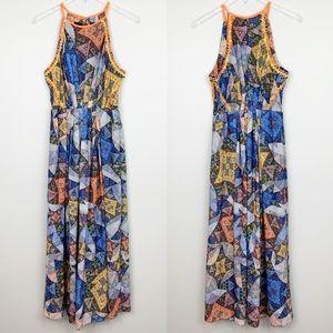 Anthropologie | Condesa Maxi Dress Embellished L